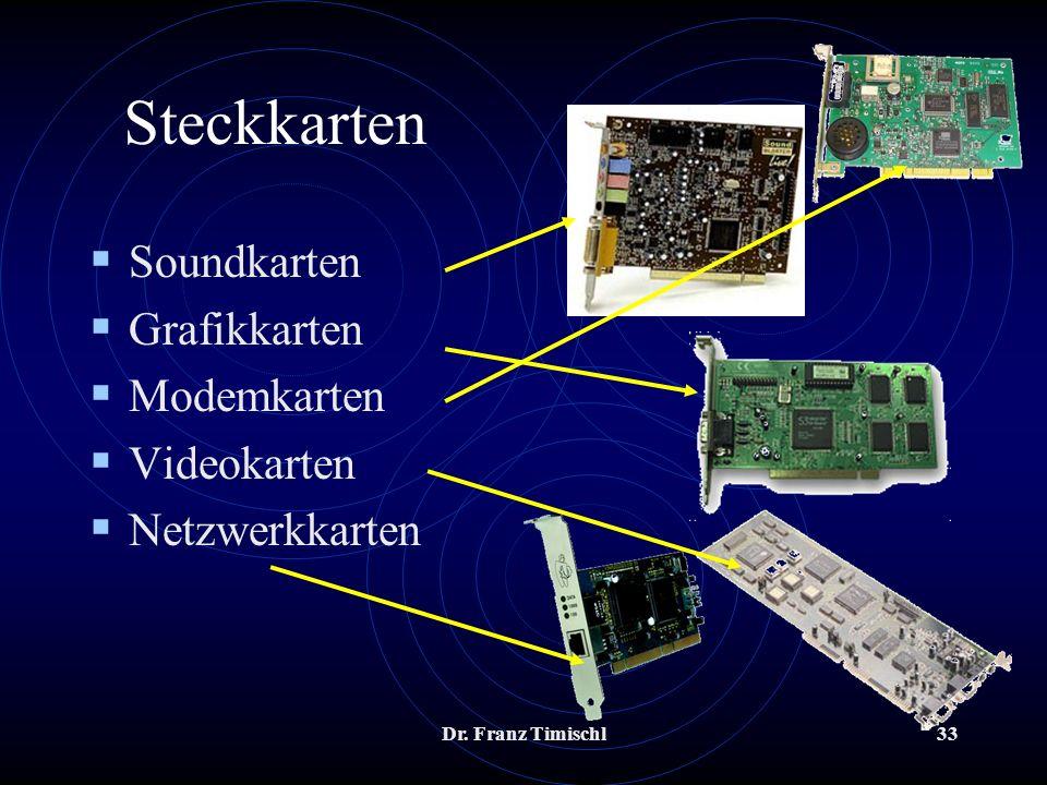 Steckkarten Soundkarten Grafikkarten Modemkarten Videokarten