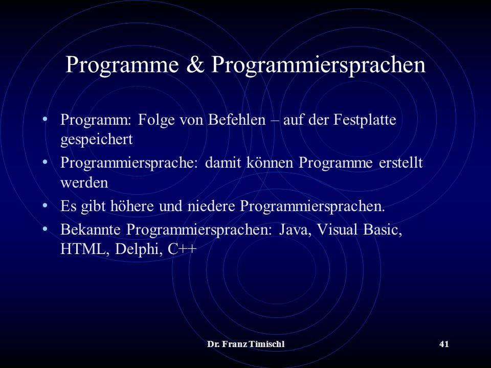 Programme & Programmiersprachen