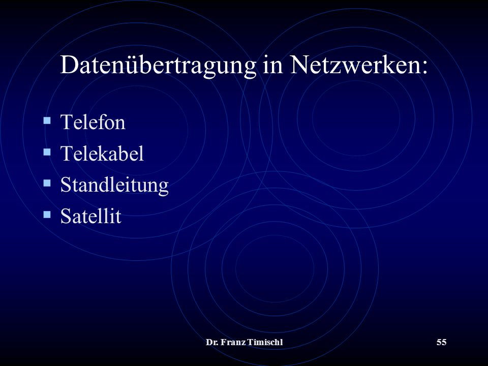 Datenübertragung in Netzwerken: