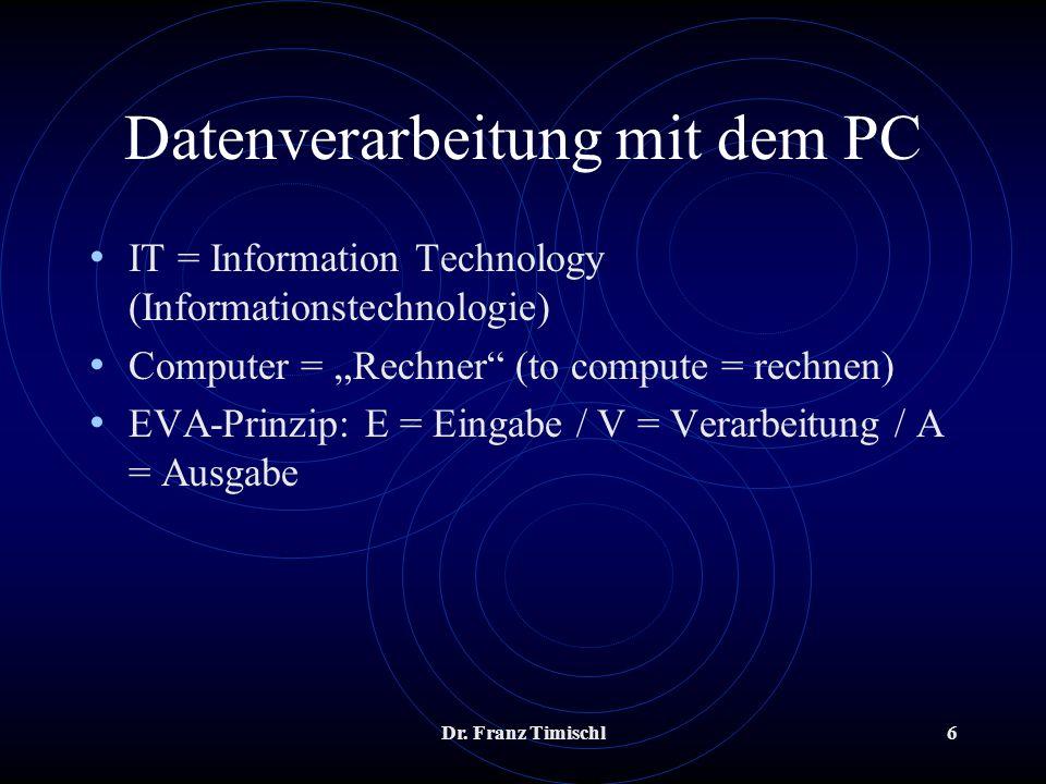 Datenverarbeitung mit dem PC