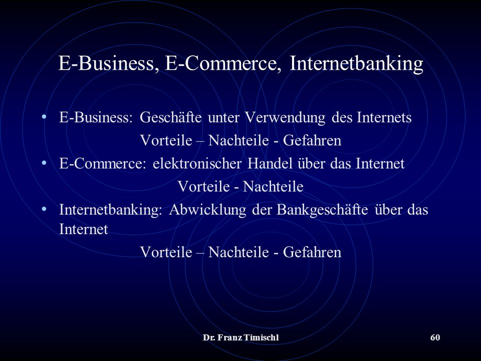E-Business, E-Commerce, Internetbanking