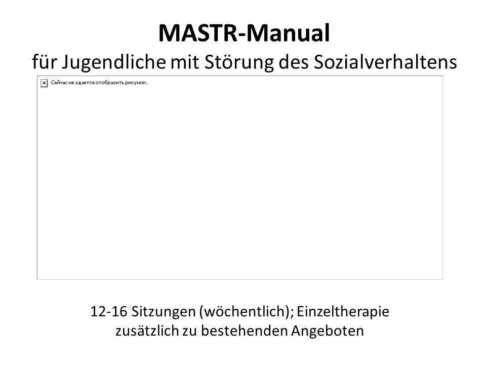 MASTR-Manual für Jugendliche mit Störung des Sozialverhaltens