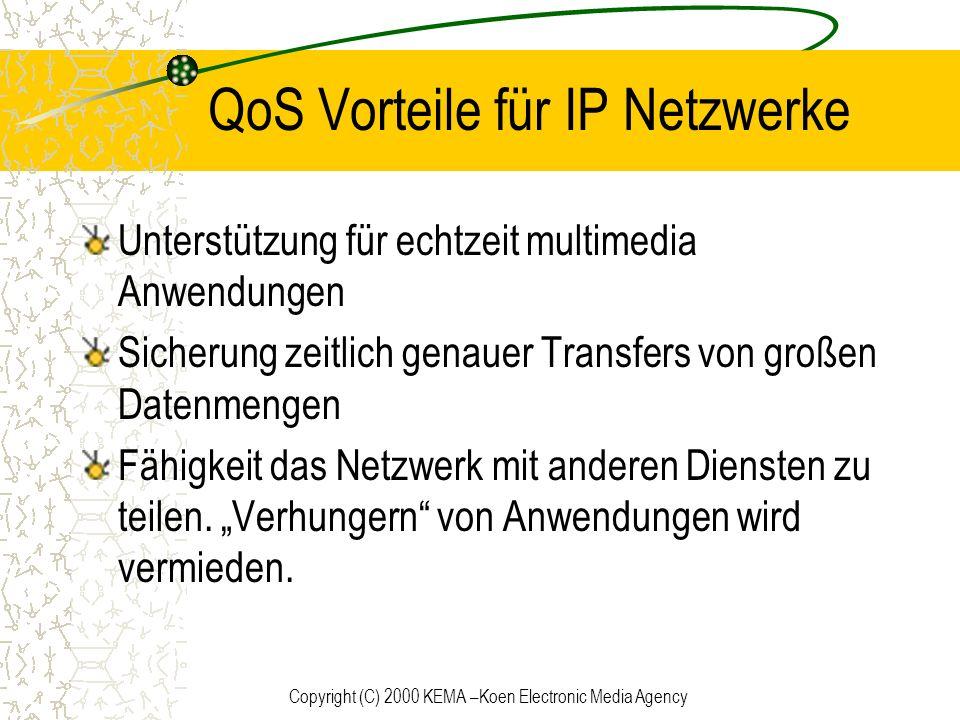 QoS Vorteile für IP Netzwerke