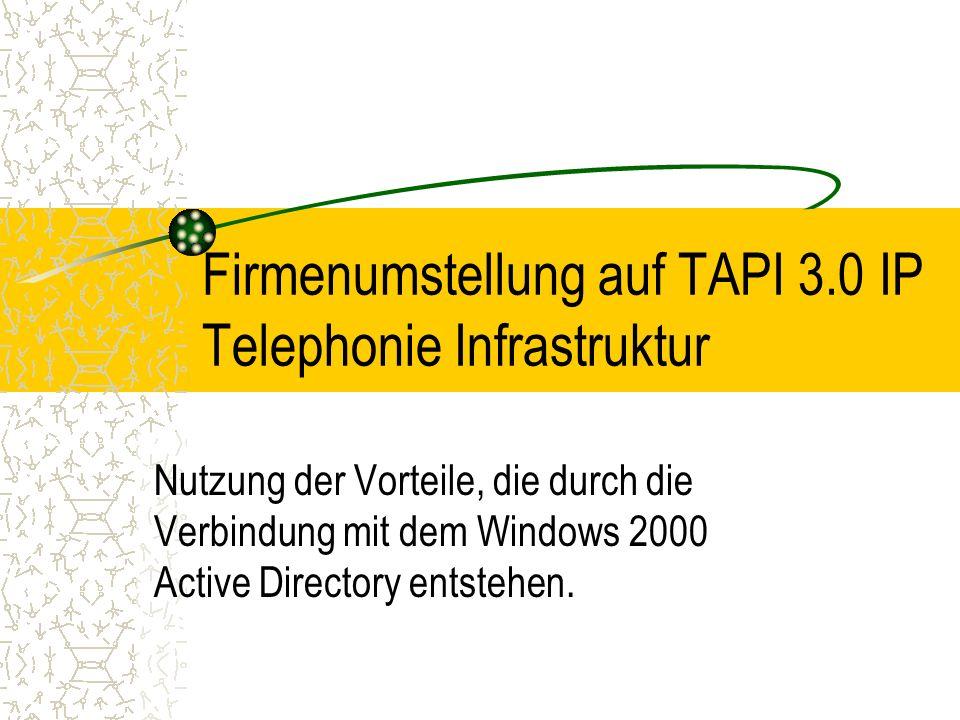 Firmenumstellung auf TAPI 3.0 IP Telephonie Infrastruktur