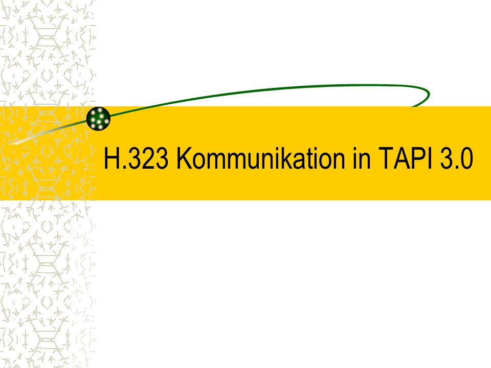 H.323 Kommunikation in TAPI 3.0