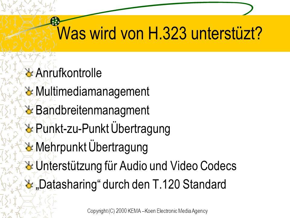 Was wird von H.323 unterstüzt