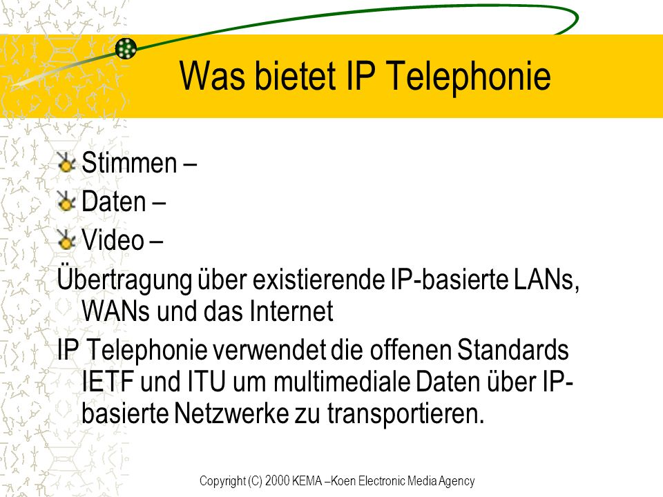 Was bietet IP Telephonie