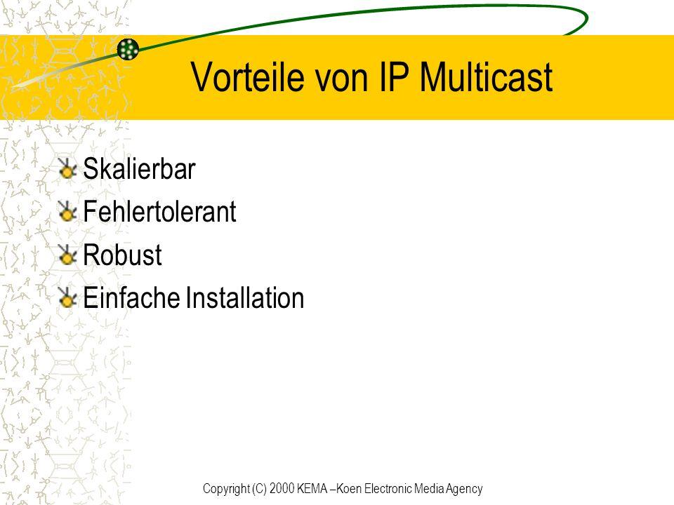 Vorteile von IP Multicast