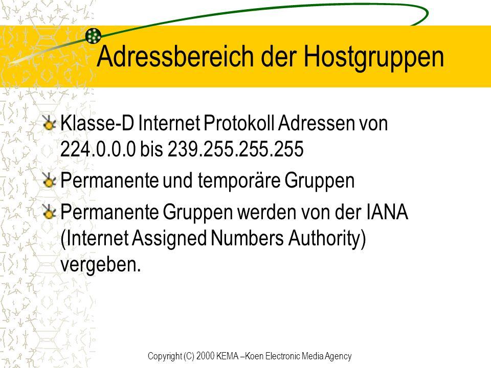 Adressbereich der Hostgruppen