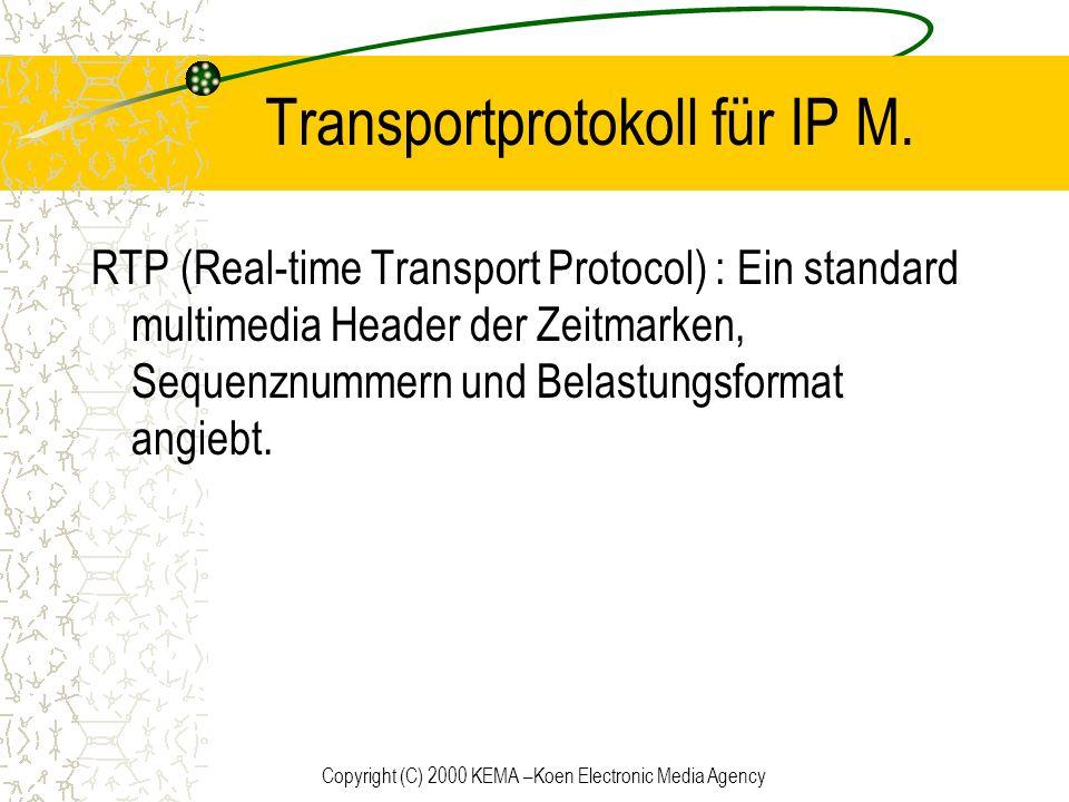 Transportprotokoll für IP M.