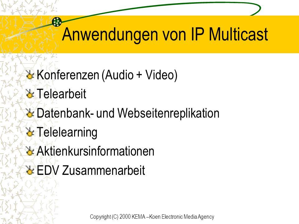Anwendungen von IP Multicast