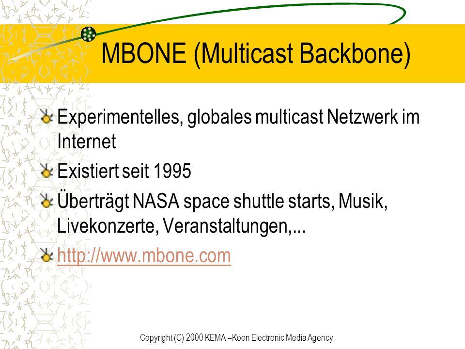 MBONE (Multicast Backbone)