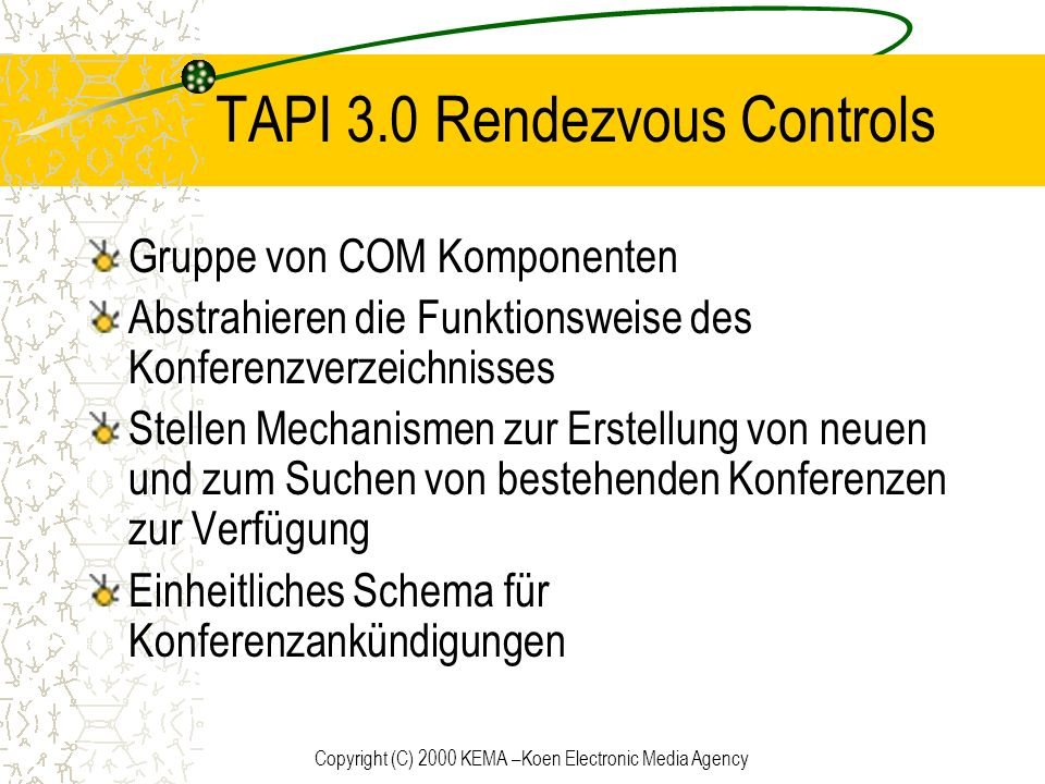 TAPI 3.0 Rendezvous Controls