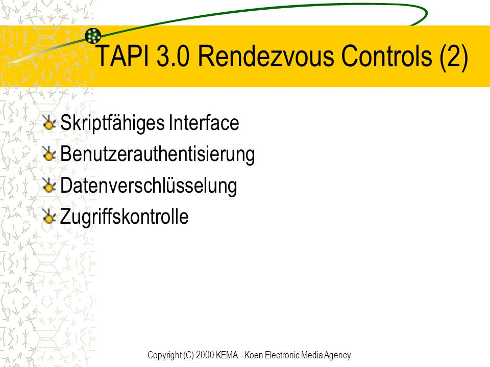 TAPI 3.0 Rendezvous Controls (2)