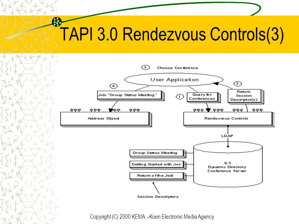 TAPI 3.0 Rendezvous Controls(3)