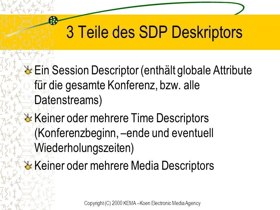 3 Teile des SDP Deskriptors