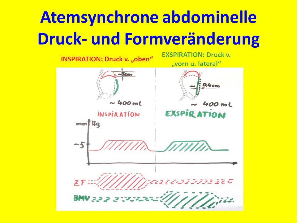 Atemsynchrone abdominelle Druck- und Formveränderung