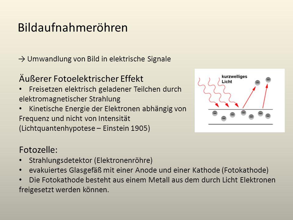 Bildaufnahmeröhren Äußerer Fotoelektrischer Effekt Fotozelle:
