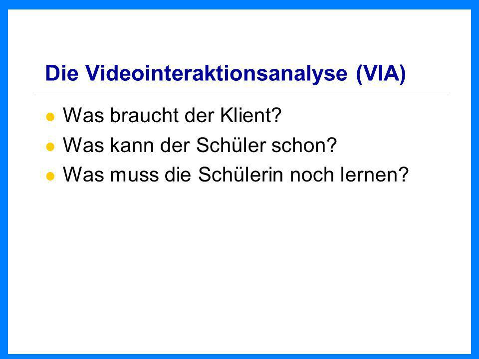 Die Videointeraktionsanalyse (VIA)
