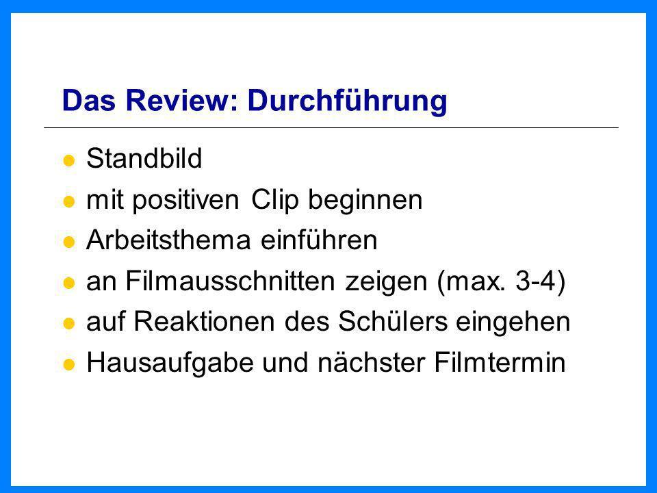 Das Review: Durchführung