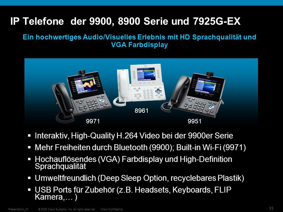 IP Telefone der 9900, 8900 Serie und 7925G-EX