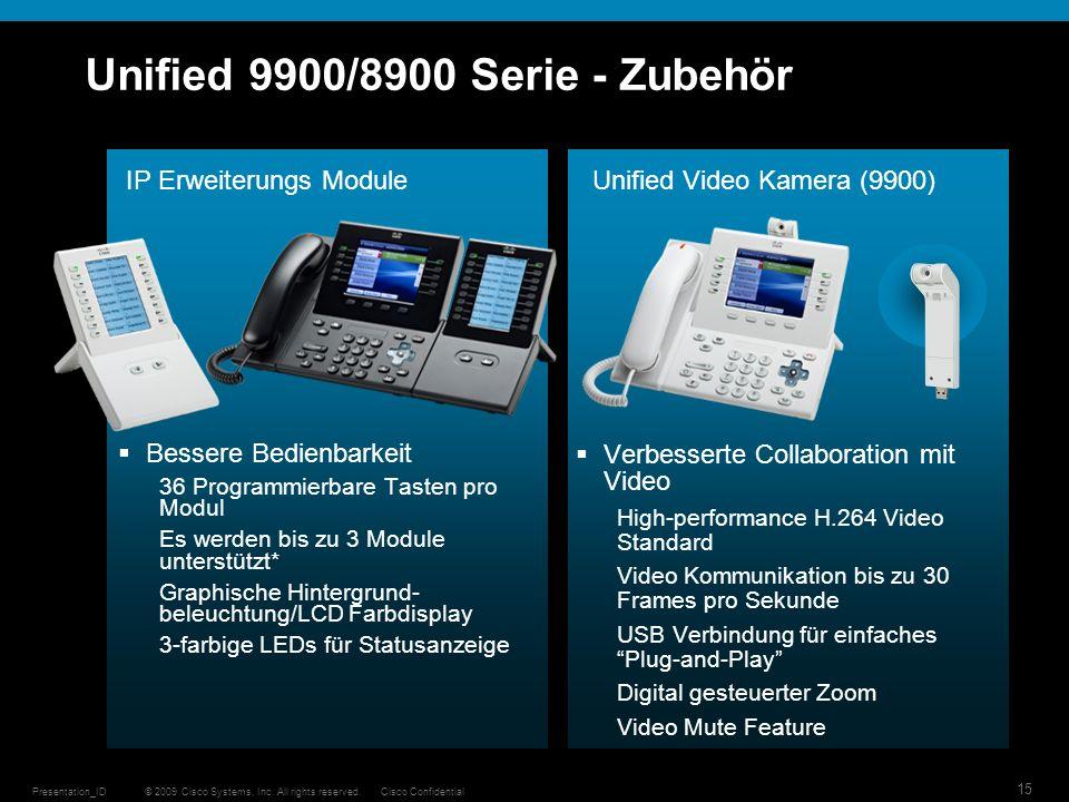 Unified 9900/8900 Serie - Zubehör
