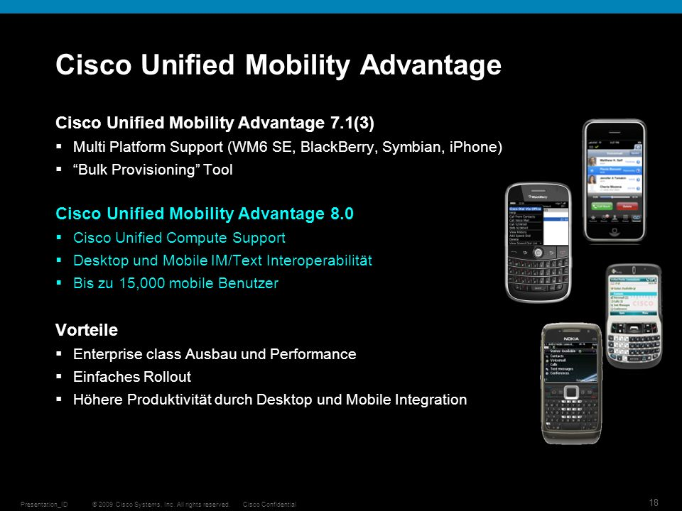 Cisco Unified Mobility Advantage