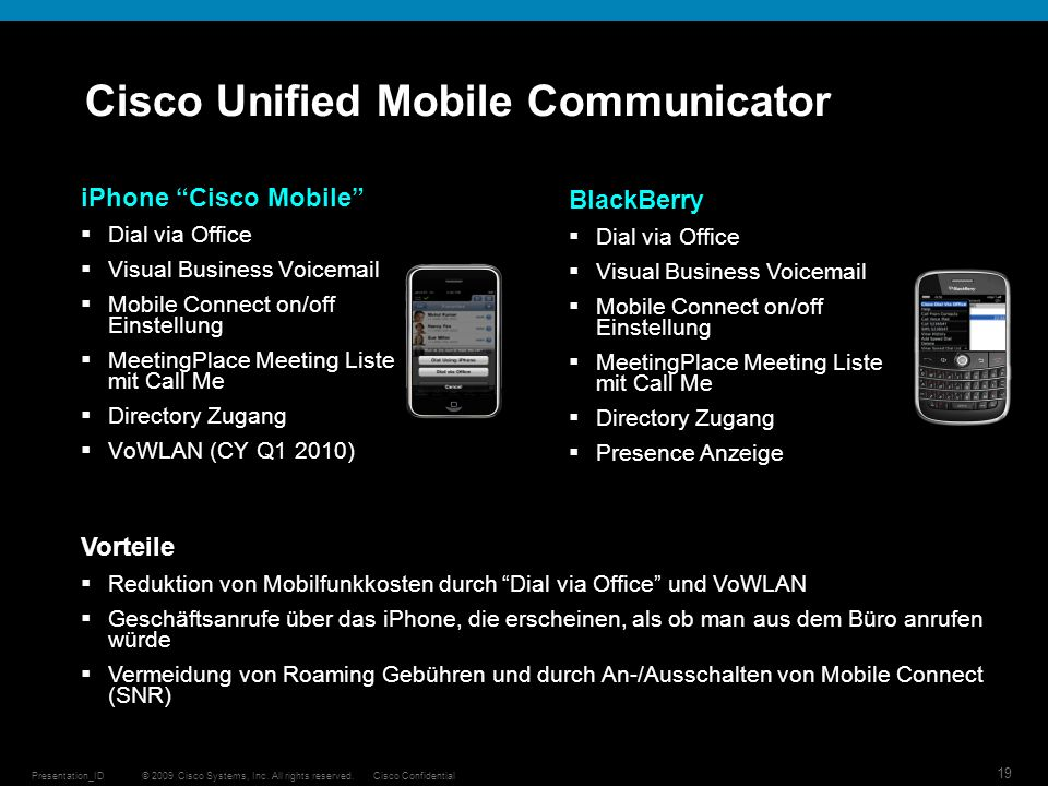 Cisco Unified Mobile Communicator
