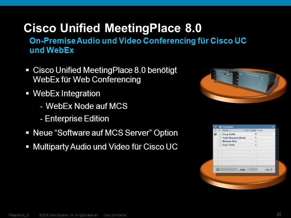 Cisco Unified MeetingPlace 8.0