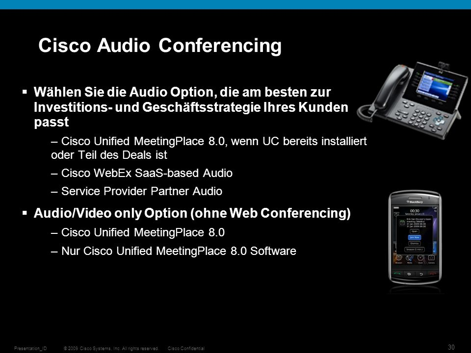 Cisco Audio Conferencing