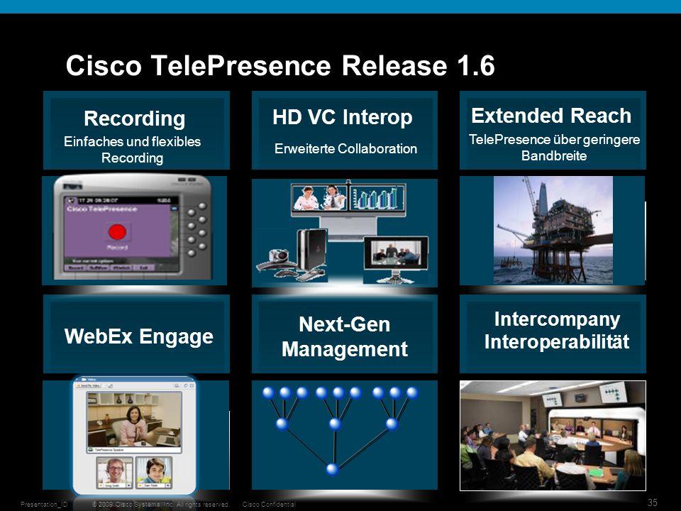 Cisco TelePresence Release 1.6