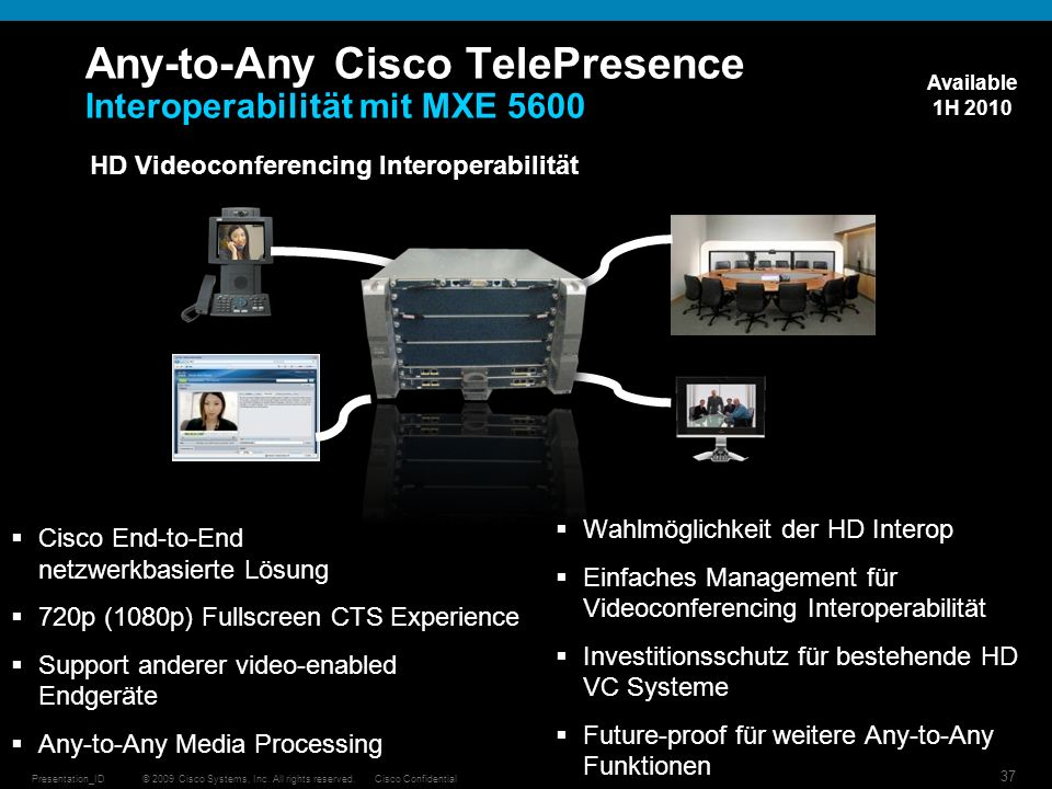 Any-to-Any Cisco TelePresence Interoperabilität mit MXE 5600