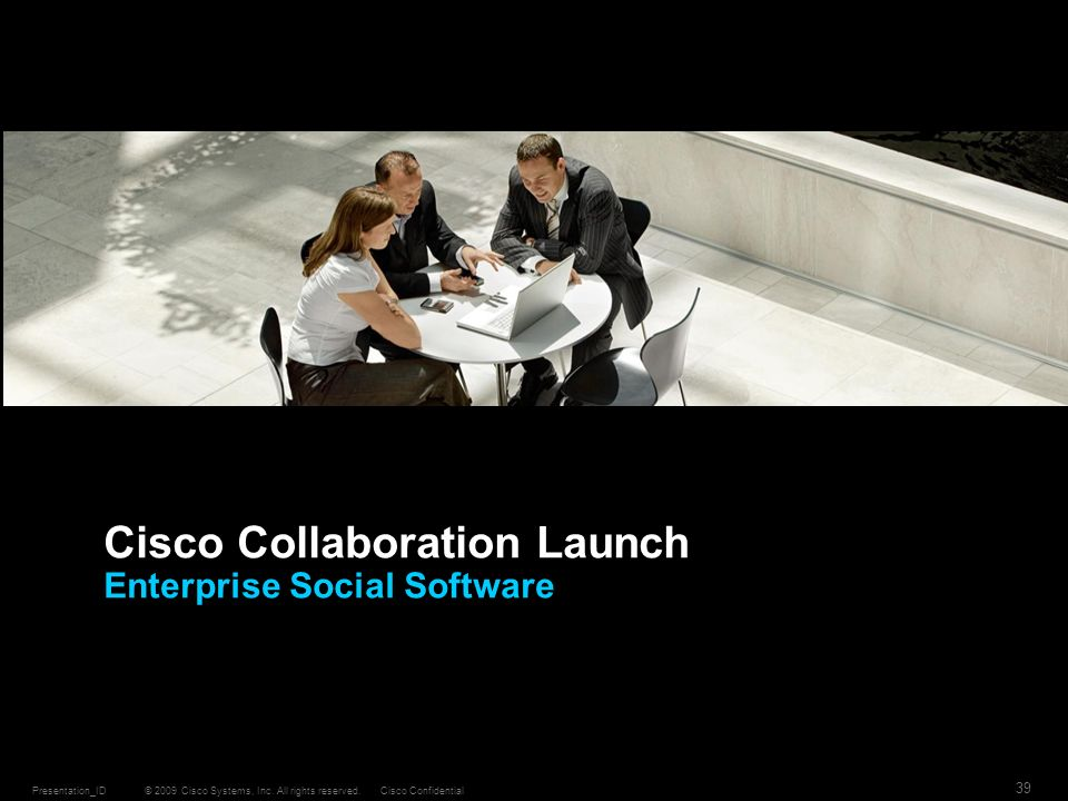 Cisco Collaboration Launch Enterprise Social Software