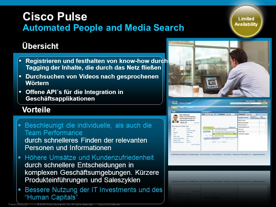 Cisco Pulse Automated People and Media Search