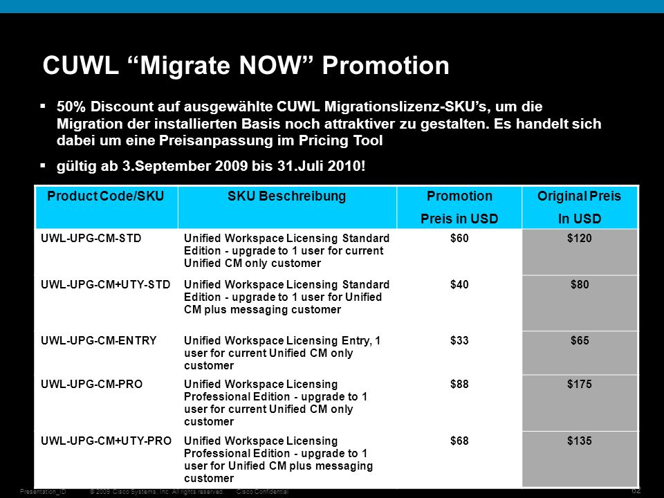 CUWL Migrate NOW Promotion