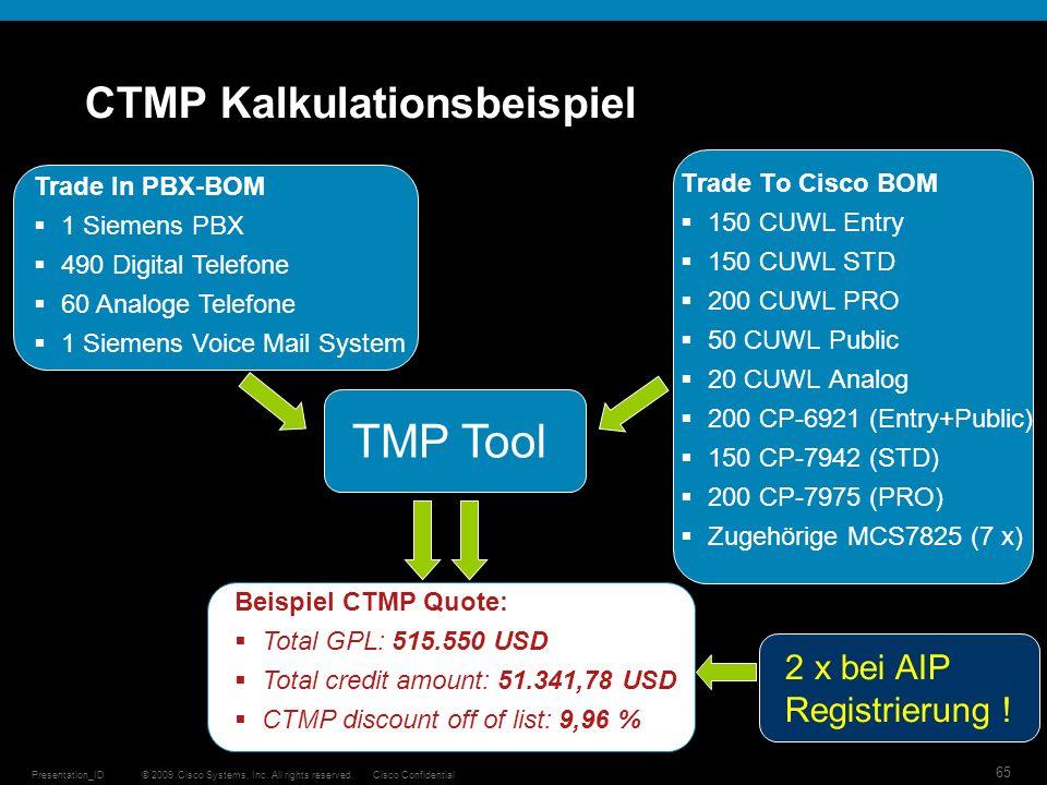 CTMP Kalkulationsbeispiel