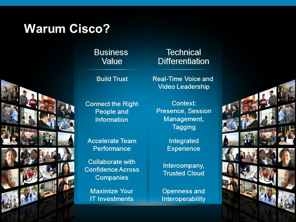Warum Cisco Business Value Technical Differentiation Build Trust