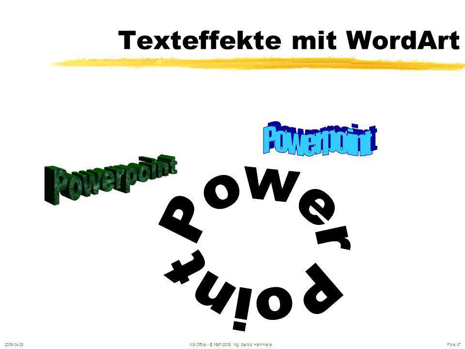 Texteffekte mit WordArt
