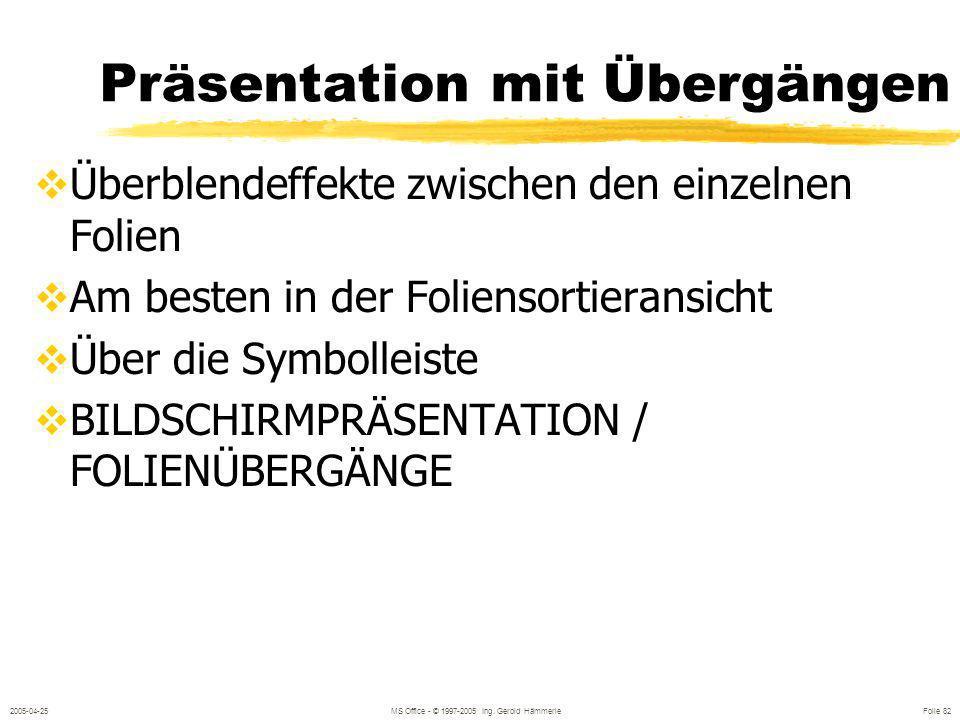 Präsentation mit Übergängen