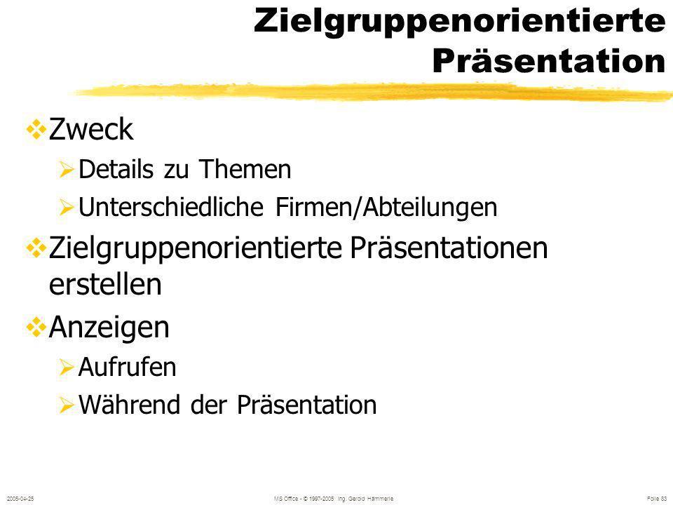 Zielgruppenorientierte Präsentation