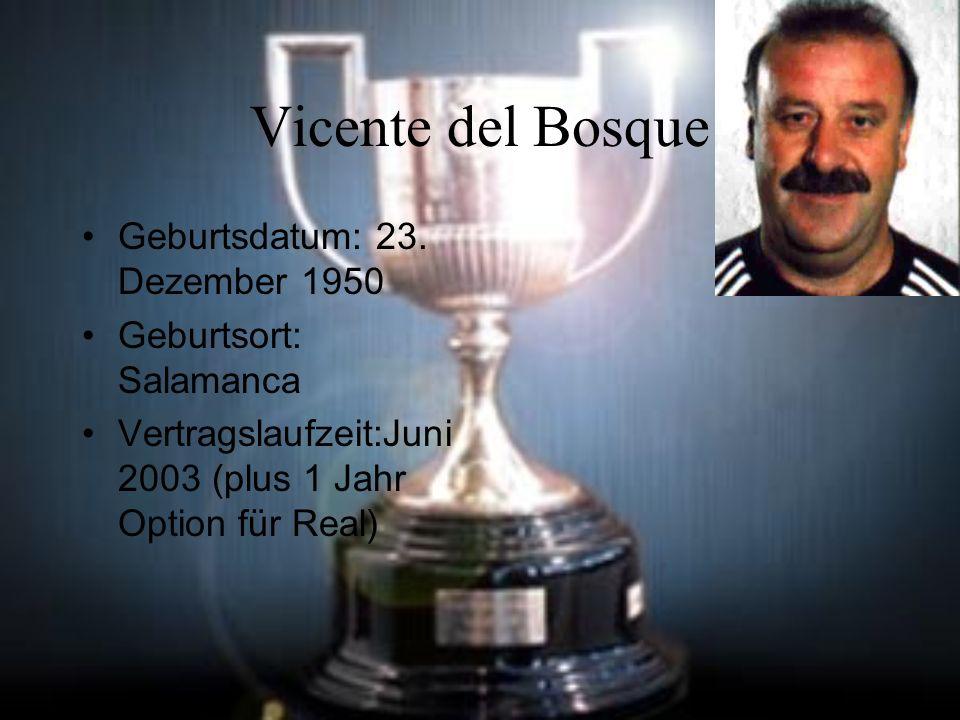 Vicente del Bosque Geburtsdatum: 23. Dezember 1950