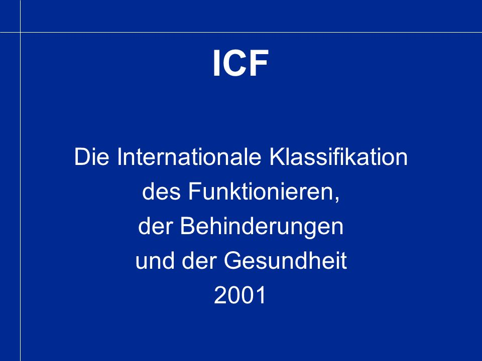 Die Internationale Klassifikation