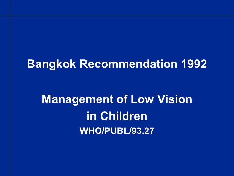 Bangkok Recommendation 1992