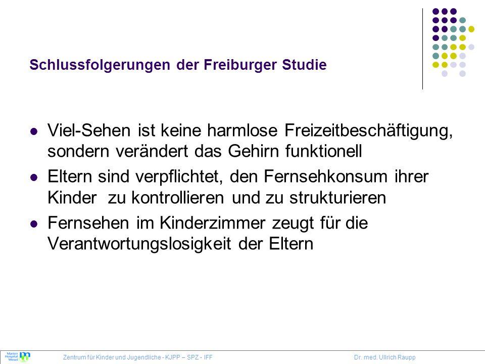 Schlussfolgerungen der Freiburger Studie