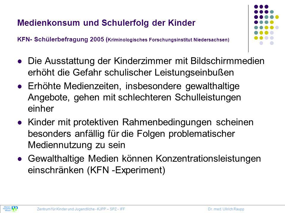 Medienkonsum und Schulerfolg der Kinder KFN- Schülerbefragung 2005 (Kriminologisches Forschungsinstitut Niedersachsen)