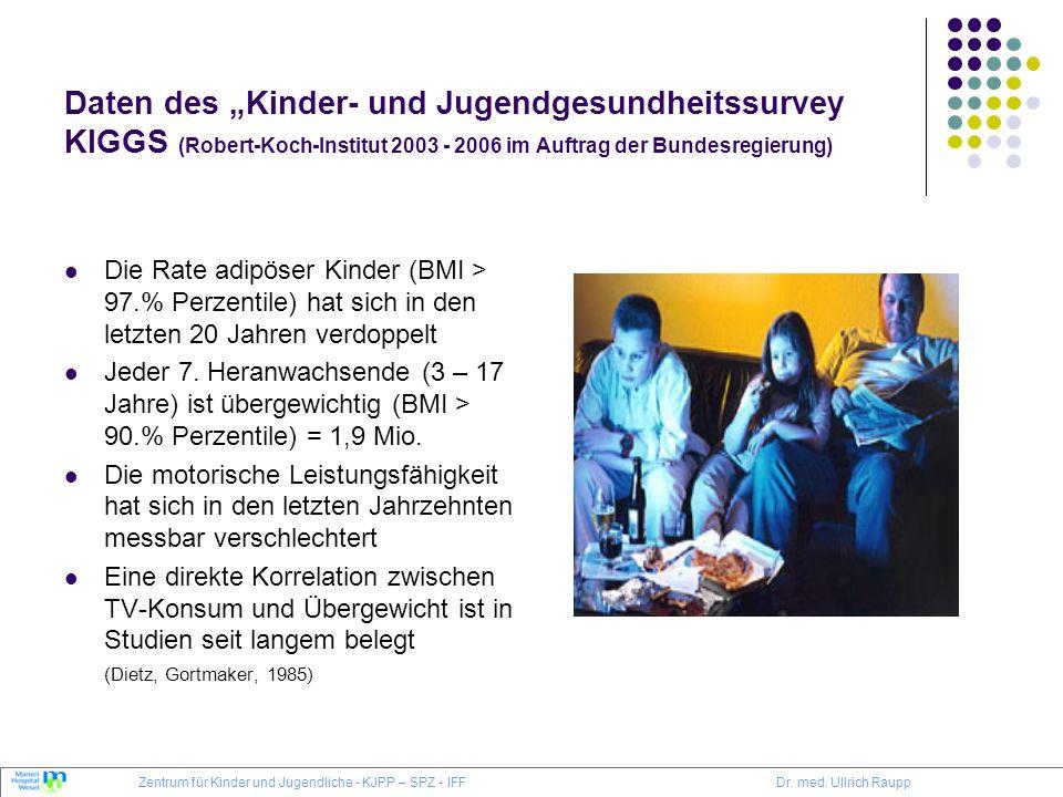 """Daten des """"Kinder- und Jugendgesundheitssurvey KIGGS (Robert-Koch-Institut 2003 - 2006 im Auftrag der Bundesregierung)"""