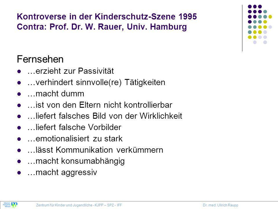 Kontroverse in der Kinderschutz-Szene 1995 Contra: Prof. Dr. W