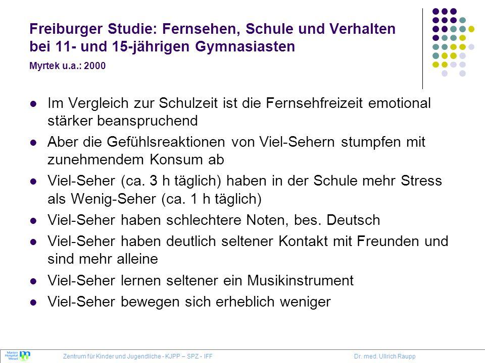 Viel-Seher haben schlechtere Noten, bes. Deutsch