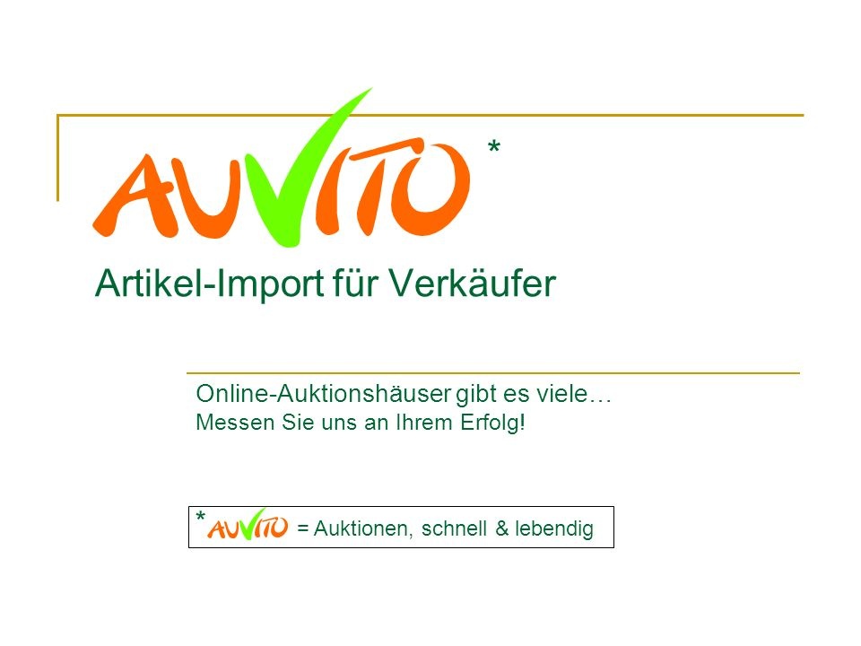 Artikel-Import für Verkäufer