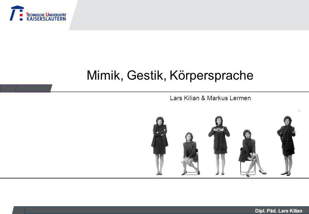 Mimik gestik körpersprache präsentation